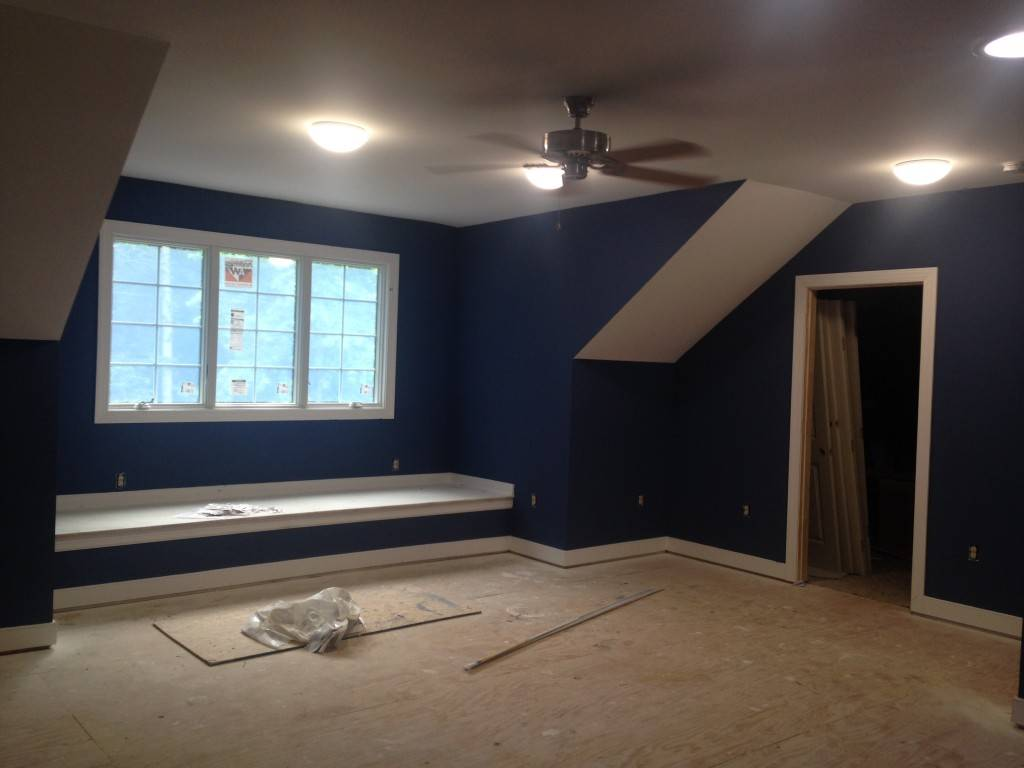 The completed space is bright and airy.