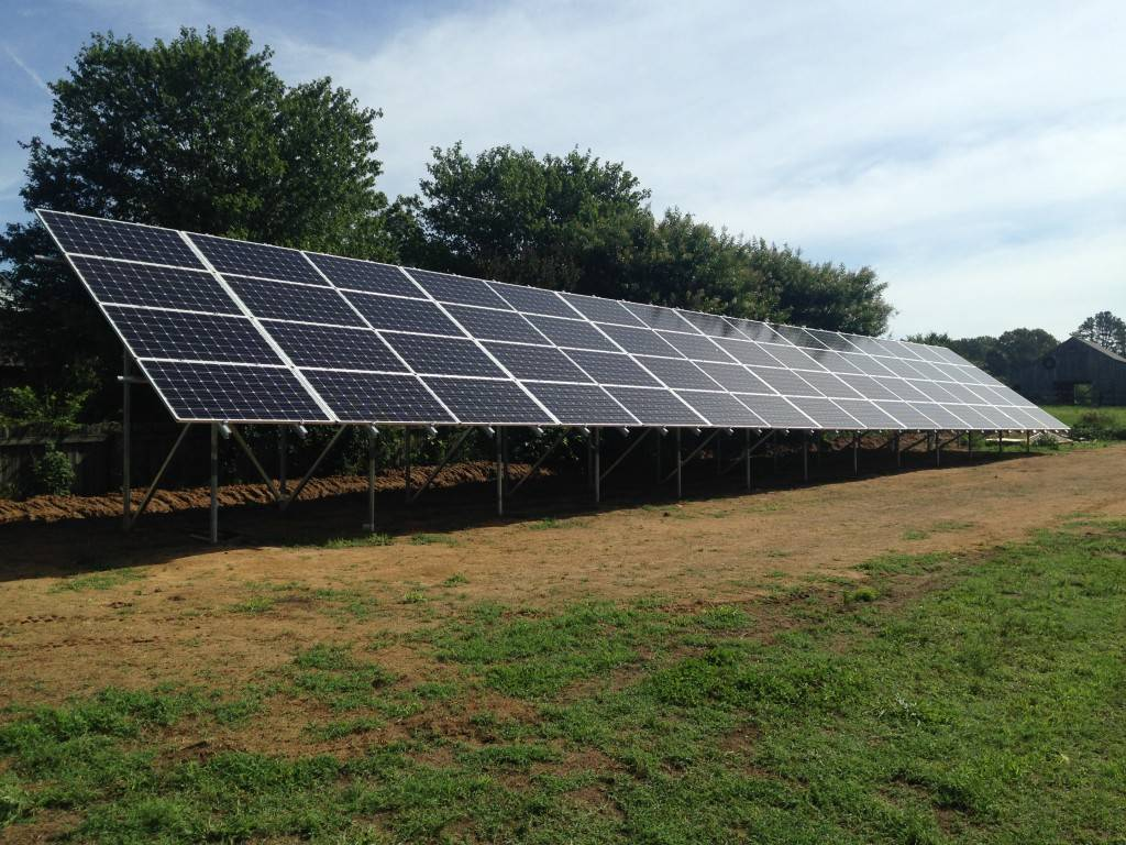 Ground mounted arrays are a great choice for those with limited roof space.